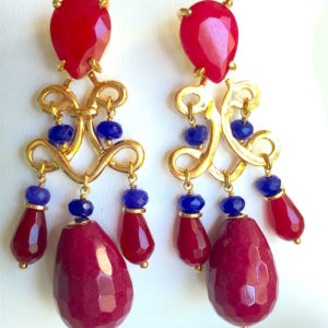 Passionate (red n blue jade. ruby drops)