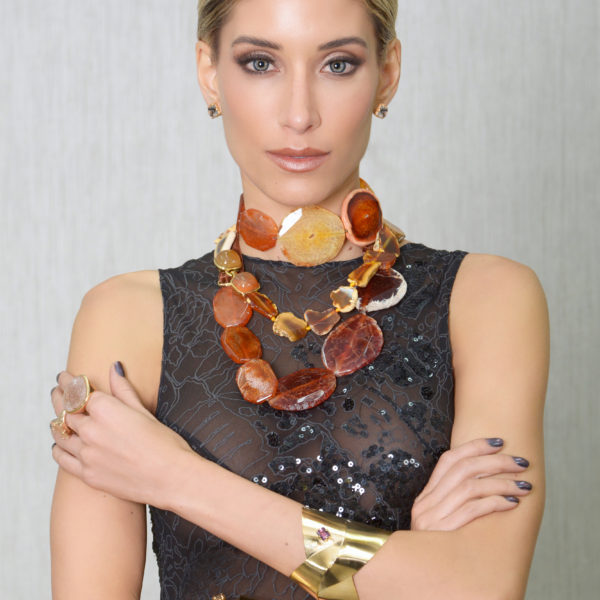 Cronos Maxi Necklace n Stone of Paradise Earring